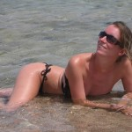 Freundin im Urlaub
