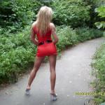Typisch blonde Sexbombe