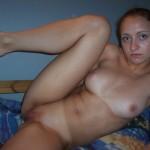 Sexy Freundin mit perfektem Körper
