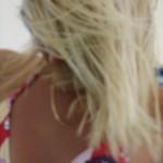 Sexy Blondes Mädel