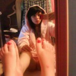 Sexy Teen macht Selfies