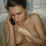 Amateur Babe in der Badewanne
