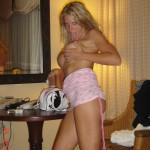 Amateurblondine mit dicken Titten