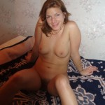 Girl shows her hairy Pussy