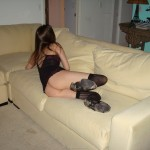 Young Girl in Dessous spreading her Holes