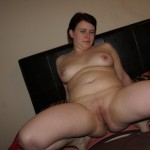 Chubby Chick shows Tits and Pussy