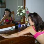 Pregnant Girl Washing